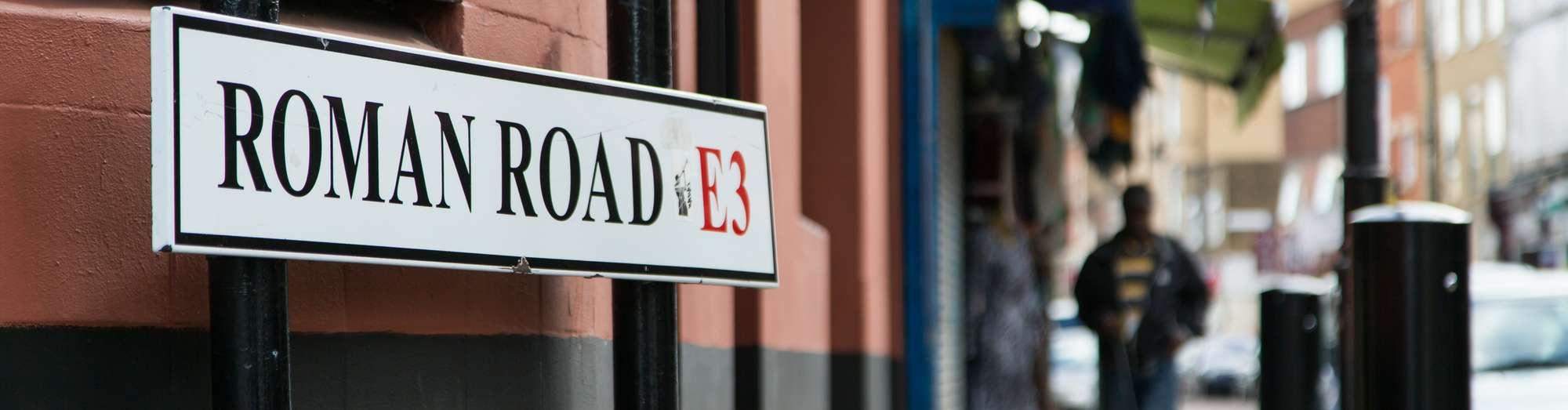 Roman Road road sign