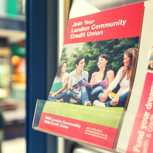 Join London Community Credit Union leaflet in rack